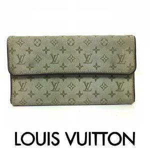 LOUIS VUITTON Green Monogram Mini Lin Canvas